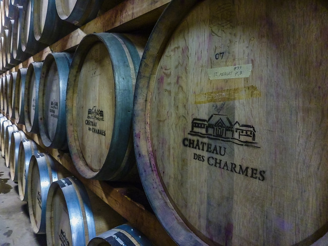 Chateau des Charmes wine casks in Niagara on the Lake