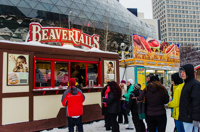 Beavertails for sale on Rideau Canal in Ottawa