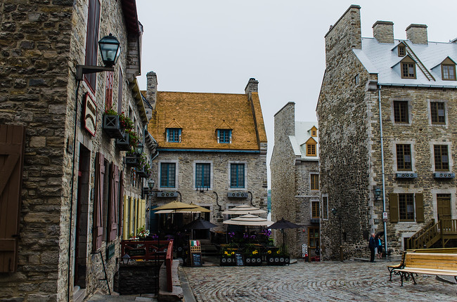 Shops in Quebec City Old Town
