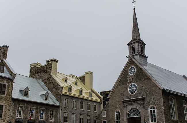 Silver and Gold Roofs in Old Town Quebec City