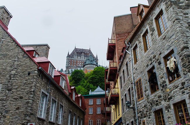 Fairmont hotel frontenac in Quebec City Old Town