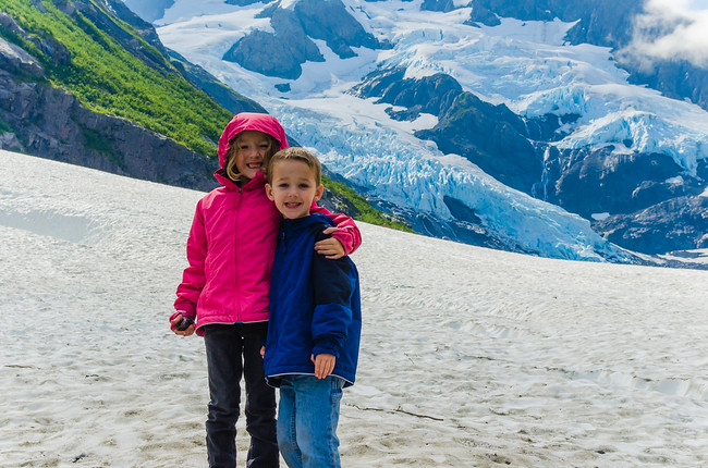 Children at Byron Glacier