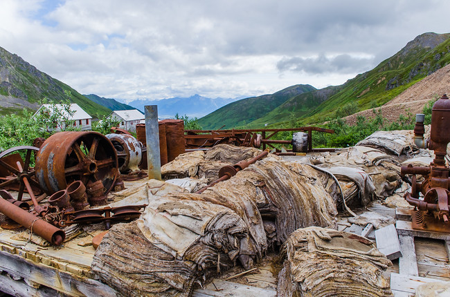 Hatcher's Pass machinery at Independence Mine State Park