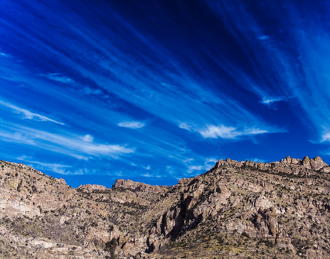 altocirrus clouds catalina mountains tucson arizona