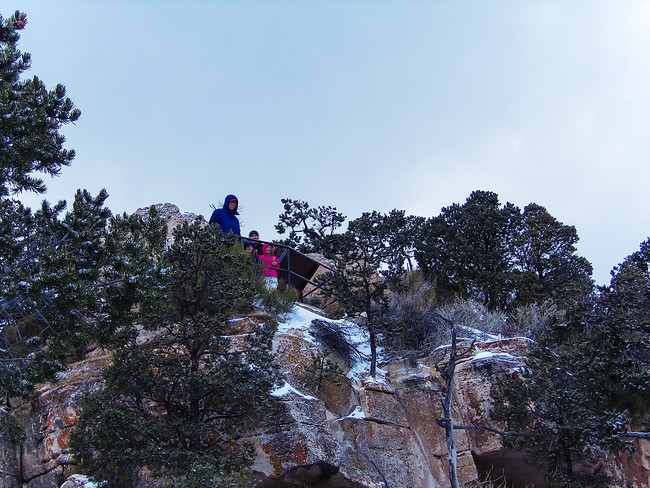 no crowds at the grand canyon in winter