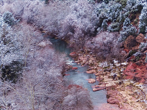 Oak Creek part of the Verde River in Arizona in the winter