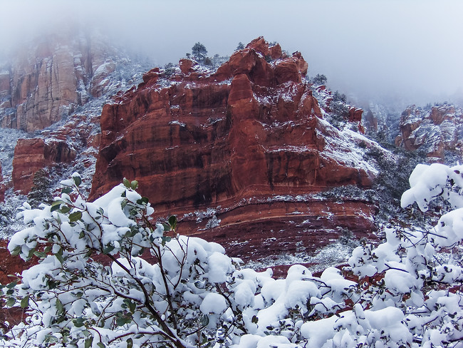 Oak Creek Canyon in Snow