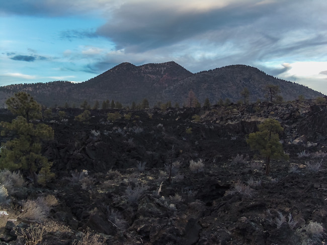 Lava Fields in Sunset Crater National Monument in Arizona