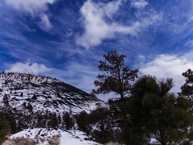 Sunset Crater National Memorial with Snow