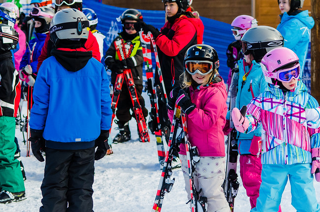 Where do Children Learn to Ski?