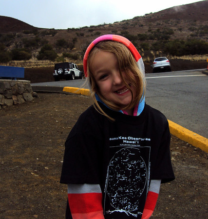 Claire at Mauna Kea Visitor Center waiting for Stargazing