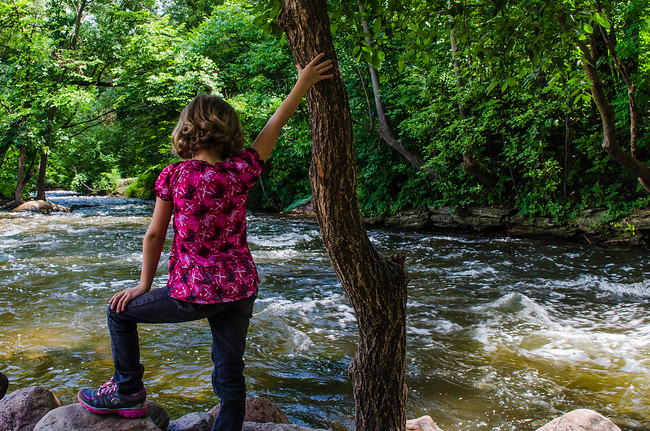 Girl at Minnehaha Creek