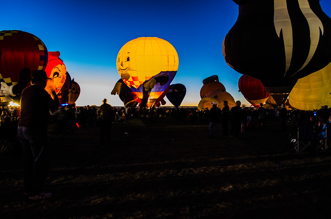 Albuquerque Balloon Fiesta Special Shapes Glow