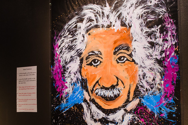 Einstein artwork at National Nuclear Museum in Albuquerque