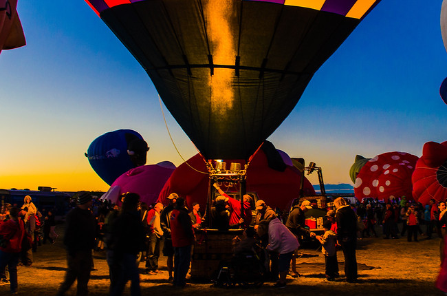 Albuquerque Balloon Fiesta Inflation at Dusk