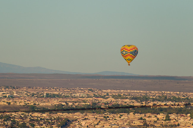 Balloon Over Albuquerque