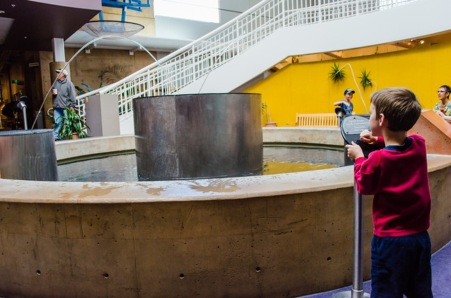 Playing with Water at Explora Museum in Albuquerque New Mexico