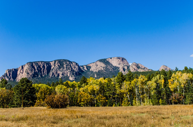 Hermit's Peak with Fall Leaves Changing