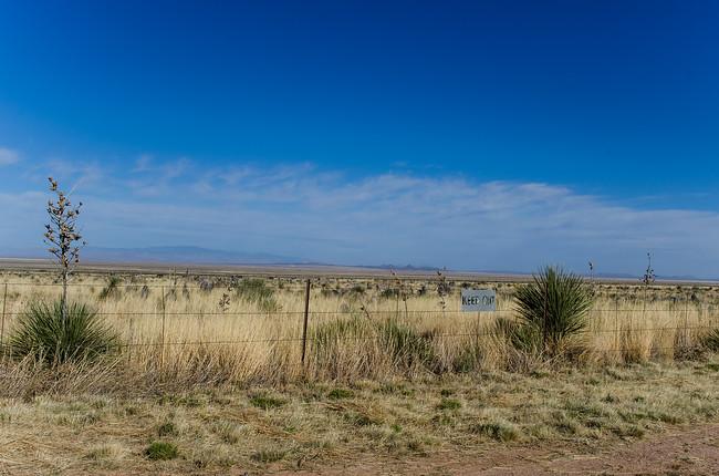 White Sands Missile Range Keep Out Sign