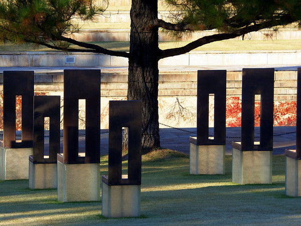 Empty chairs at Oklahoma City Memorial