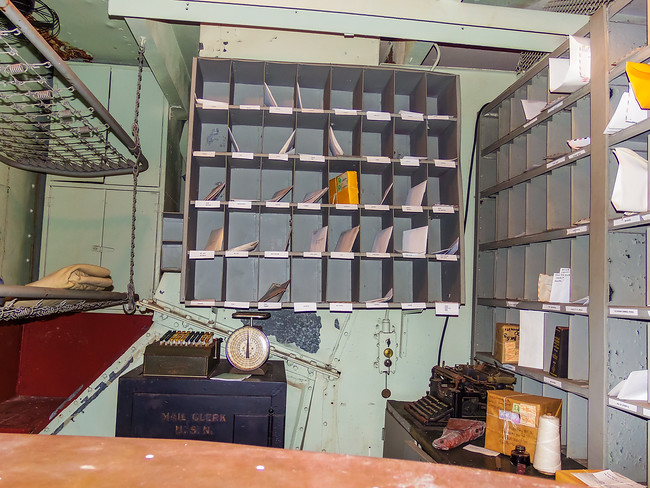 Mailroom on the Battleship Texas in Houston