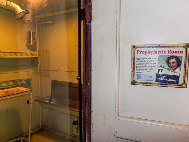 Prophylactic room on the Battleship Texas
