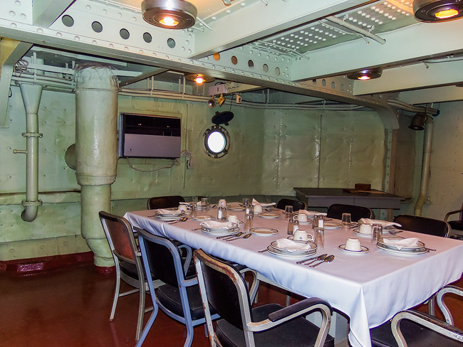 Officers mess on Battleship Texas