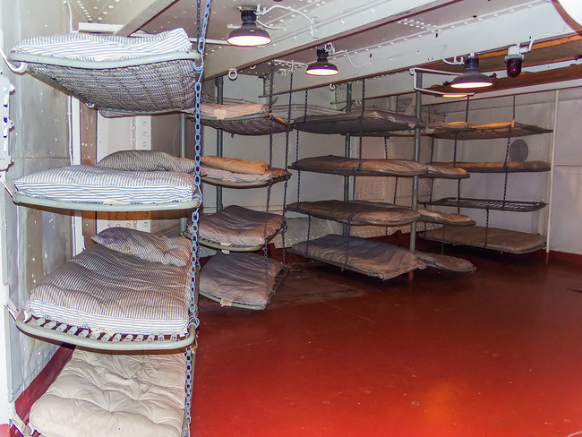 Bunks on the Battleship Texas