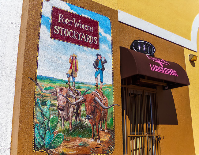 fort worth stockyards mural