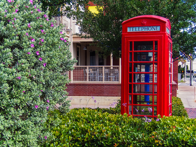 telephone booth red galveston texas