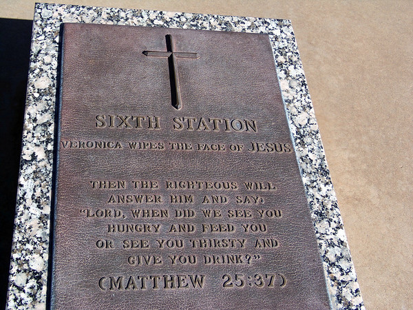 sixth station plaque at groom texas
