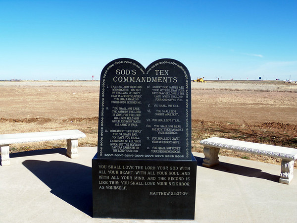 ten commandments in groom texas