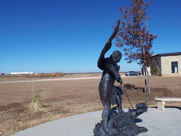 angel and dragon in groom texas
