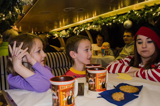 Children on Polar Express in Palestine Texas