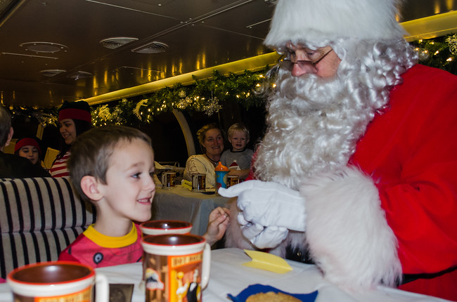 Little Boy Getting Bell From Santa on Polar Express