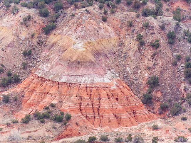rock layering palo duro canyon state park texas
