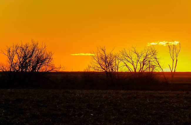 Winter sunset in the Texas Panhandle