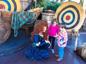 Princess Brave at Disneyland signing autographs