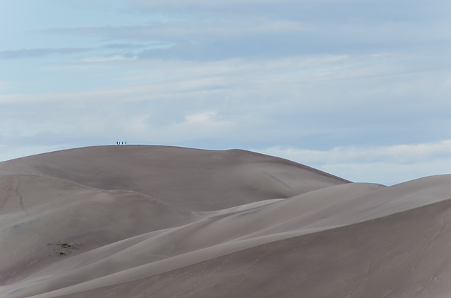 Hiking Dune at Great Sand Dunes National Park