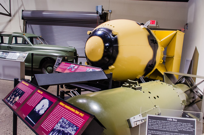 Mockups of Nuclear Bombs in Albuquerque