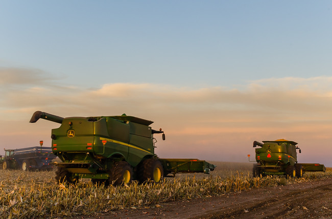 Farm Equipment at Corn Harvest in Texas