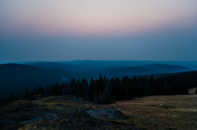 Sunrise from the Sheep Mountain Fire Lookout Wyoming
