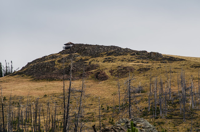 Sheep Mountain Fire Lookout in Bighorn Mountains National Forest